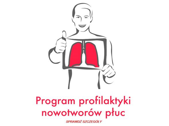 """""""Co zakłóca Twoje płuca"""" w zakresie Programu profilaktyki nowotworów płuc"""